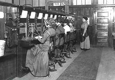 operators at the Roseburg Telephone and Telegraph Co. circa 1910 Oregon